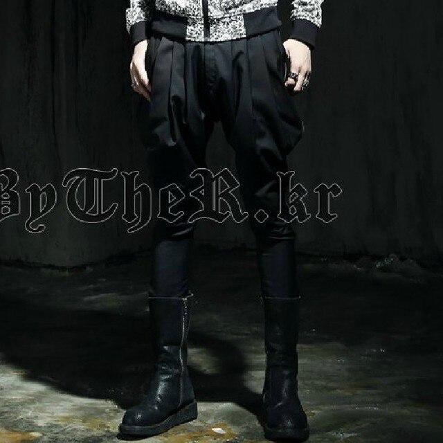 Новый 2017 мужчины случайные штаны Корейской моды личность шаровары висит низкие брюки промежность