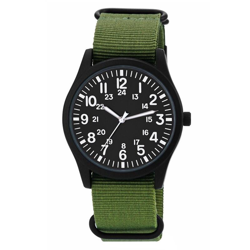 2018 Fashion Large Dial Military Quartz Men Watch nylon Sport watches High Quality Clock Wristwatch Relogio Masculino black
