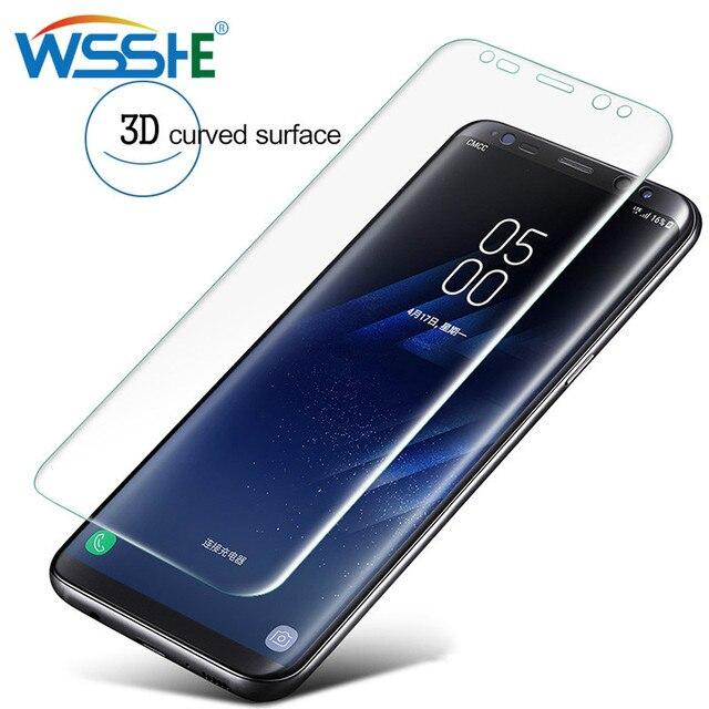 Cubierta completa pantalla Protecto para Samsung Galaxy S8 S9 más 3D Film Protector de pantalla S7 borde Nota 8 9 S10 plus lite de S6 casos de la cubierta