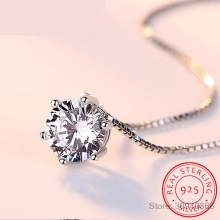 925 пробы Серебряное ожерелье AAA CZ циркониевое ожерелье для женщин цепочка ожерелье-Колье чокер