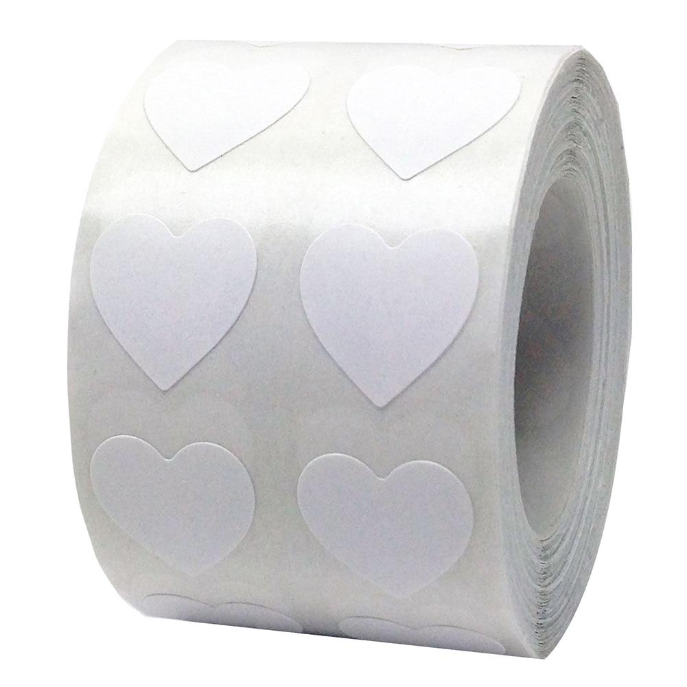 Рулон Любовь Сердце этикетки наклейки свадебный подарок упаковка герметизация Искусство Наклейка упаковка мешок - Цвет: Белый