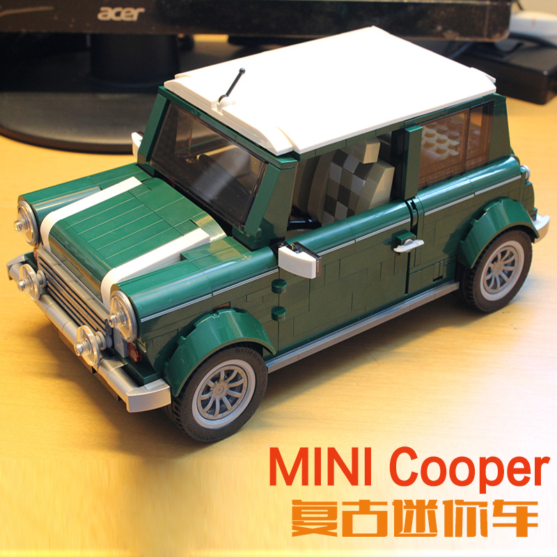 LEPIN Technic Series 21002 1108Pcs Cooper Model MK VII Model Building Blocks Bricks Kids Toys For Children Gift 10242 creator free shipping lepin 21002 technic series mini cooper model building kits blocks bricks toys compatible with10242