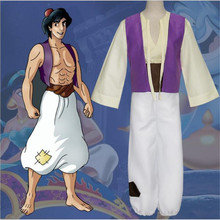 лучшая цена Tales From The Thousand And One Nights Aladdin and the magic lamp Cosplay Costume Adult Boys Masquerade Uniform Stage Suit
