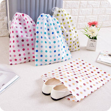 Non-Woven Clover Travel Shoe Storage Bag Portable Drawstring Tote Home Toys Pouch Sundry Clothing Underwear Bag