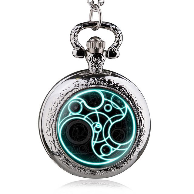 New Arrival Hight quality Antique Doctor Who Theme Pocket Watch Chain Pendant Wa