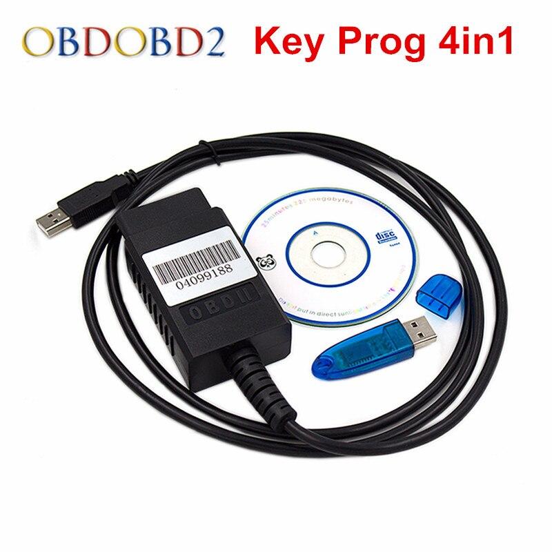 Лучший FNR ключ Prog 4 в 1 USB ключ для Nissan FNR Программатор ключей 4-в-1 с Dongle авто ключ транспондер