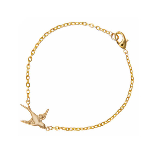 Trendy Handmade Swallow Bracelet Tiny Bird Dainty Gold For Women And S