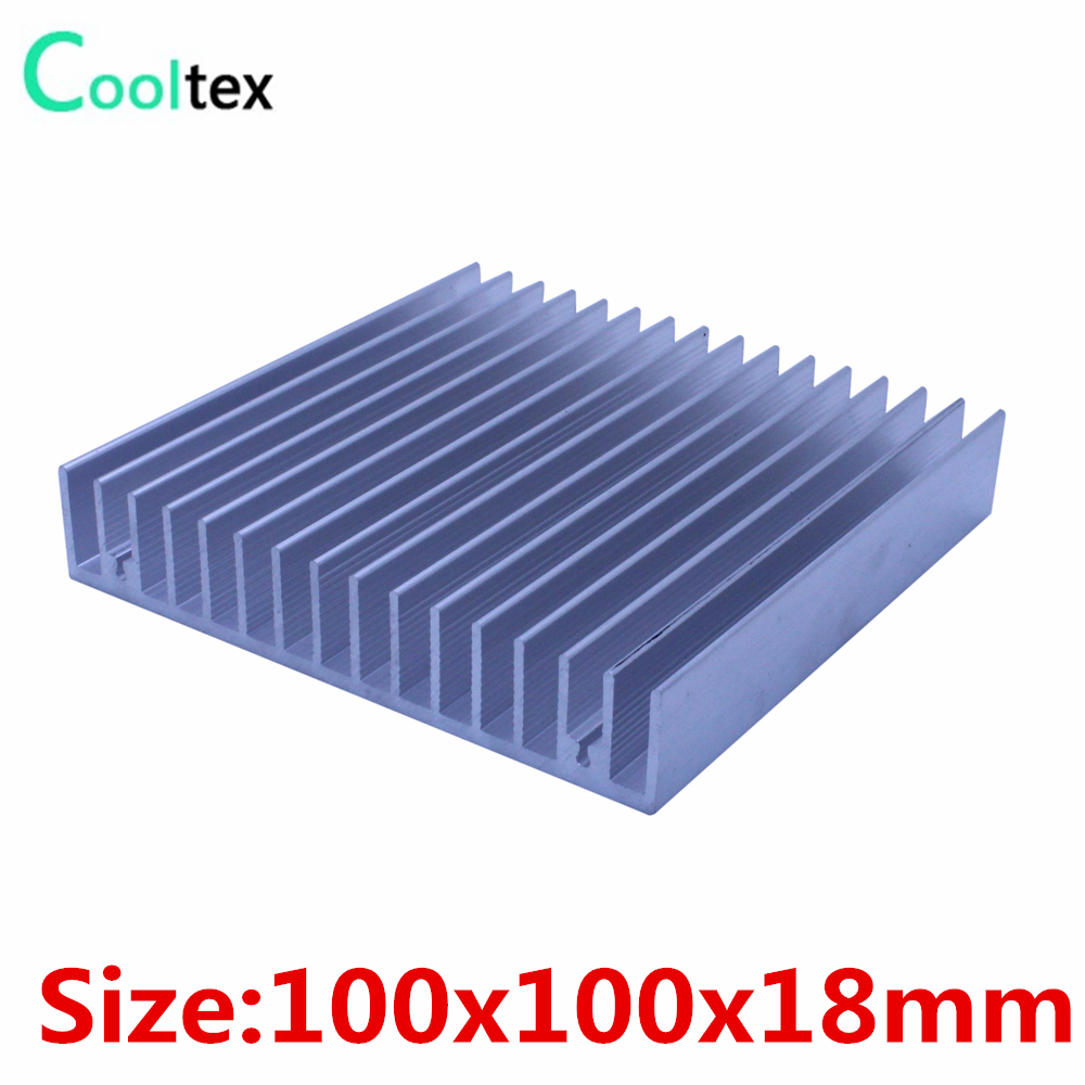 100% new 100x100x18mm radiator Aluminum heatsink Extruded  heat sink for 20-50W LED, Electronic heat dissipation cooler cooling radiator aluminum cooler cooling heatsink extruded profile heat sink for computer pc chipset power ic electric device led light