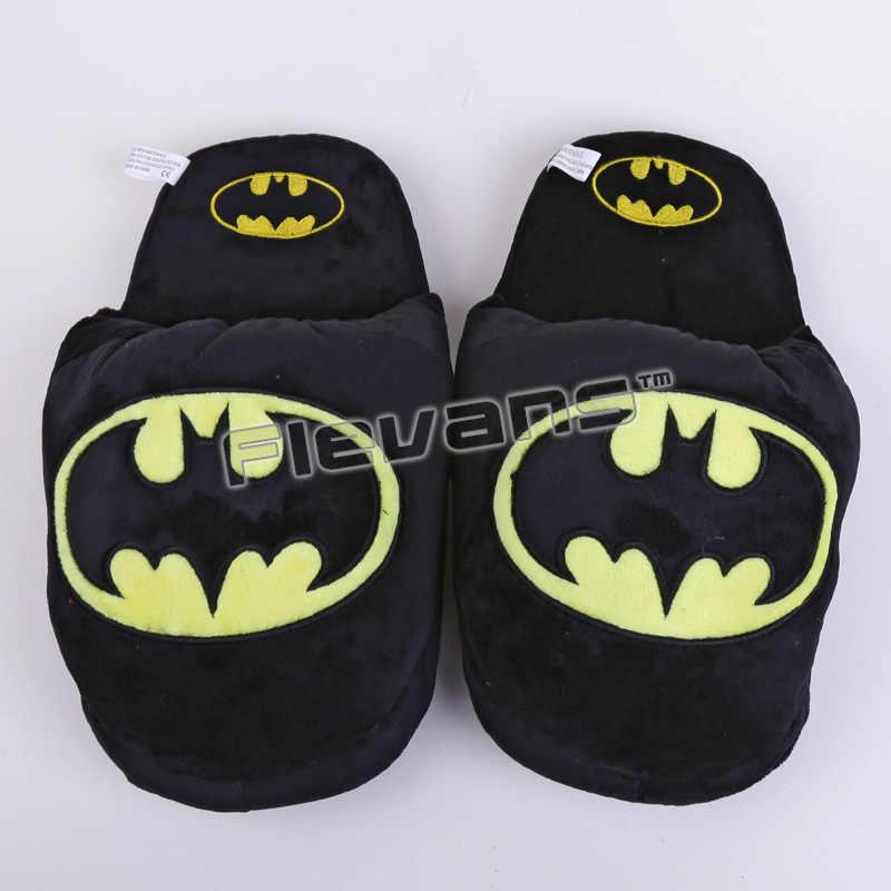 Super Herói Batman Superman Mulher Maravilha Deadpool Spiderman Casa de Pelúcia Chinelos Casa de Inverno Interior Sapatos Macios Brinquedos Bonecas