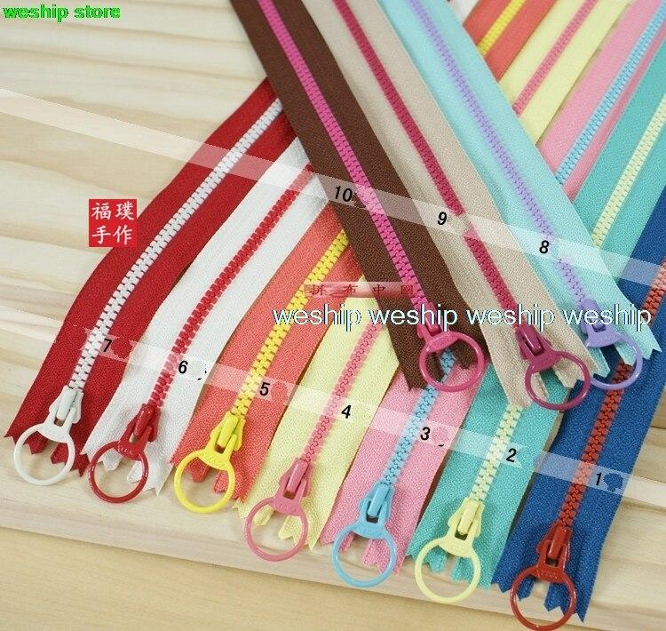 High-quality Japan YKK NO.3 Double Color Resin Zipper 15 Color 7 Lengths
