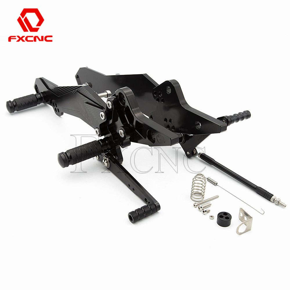 FOR KAWASAKI Z800 ZR800 ABS 2013 2016 2014 2015 Aluminum Adjustable Motorcycle Rearsets Rear Sets Foot Pegs Pedal Footrest