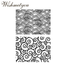 WISHMETYOU New Design Wave Transparent Silicone Clear Stamps For Diy Scrapbooking Crafts Making Handmade Photo Album Decor Card