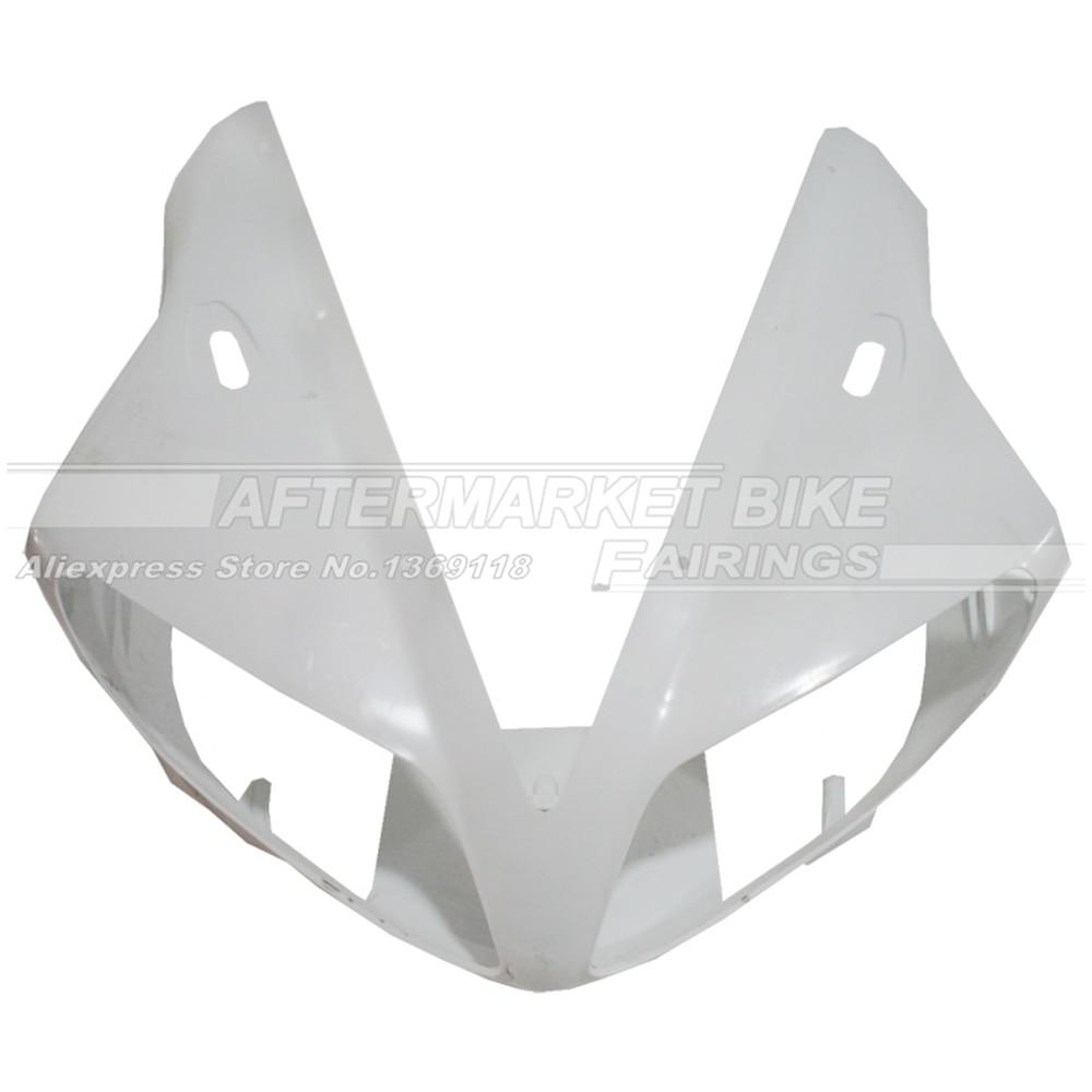 100% Virgin ABS Plastic Front Fairing Head For YAMAHA YZF R1 2002 2003 Upper Fairing Nose Cowling NEW запчасти для мотоциклов yamaha 100 100 5wb5wy100
