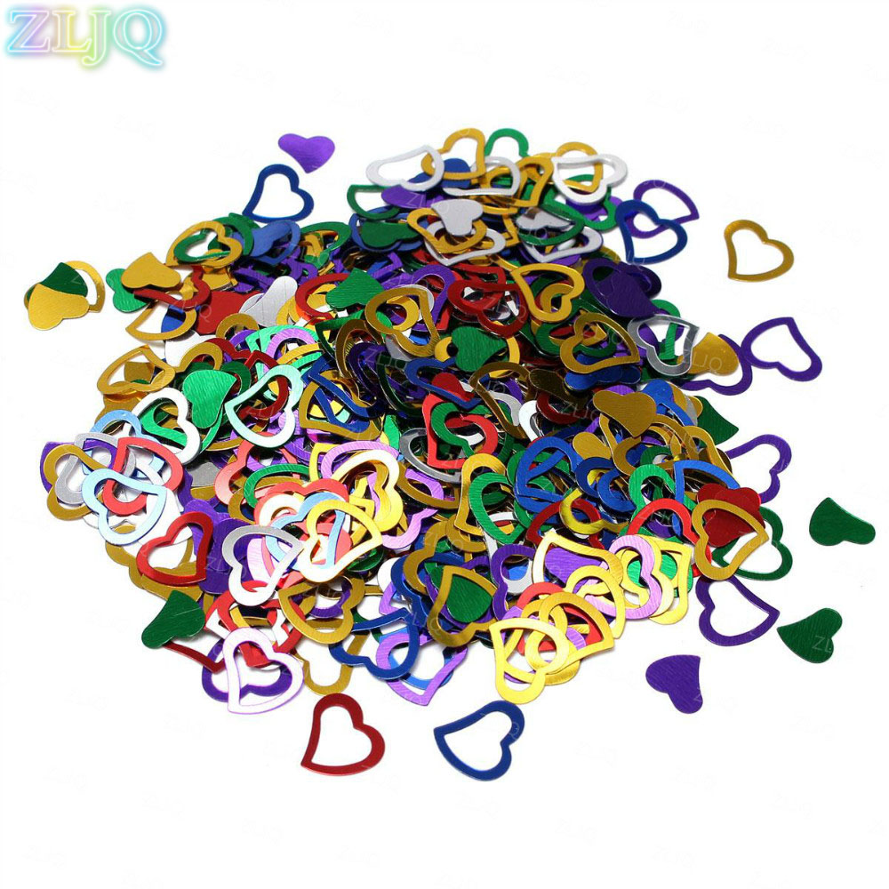 Zljq 650pcs Hollow Love Heart Confetti Wedding Party Table Decor