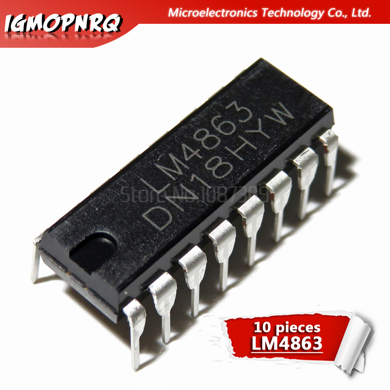 SOP-16 Audio Amplifier IC ic chip 5 PCS New CS4863 CSC4863 instead of LM4863S