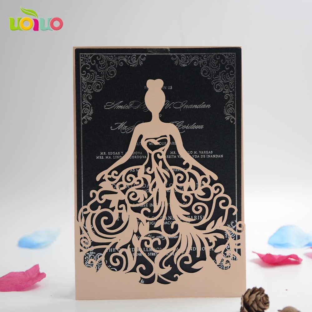 Best Laser Cut Wedding Invitation Card Quinceanera