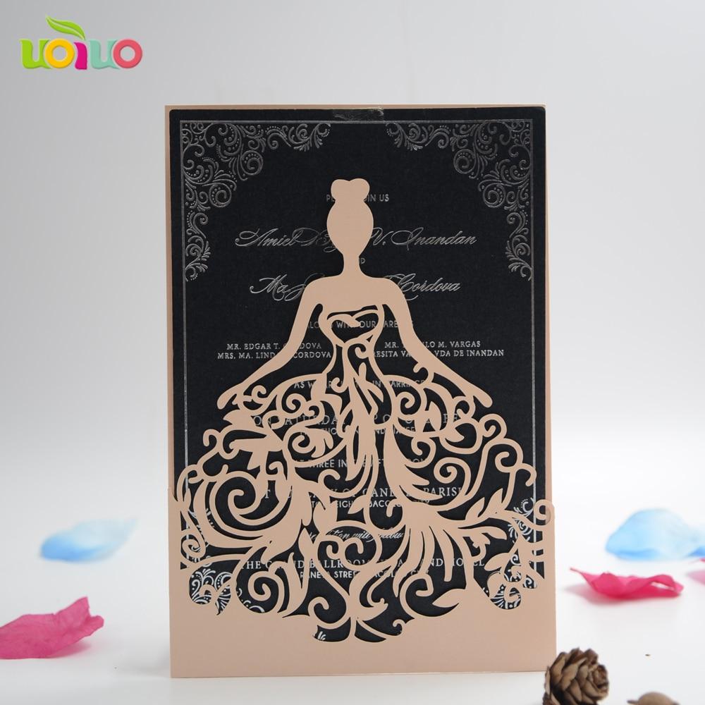 best sale laser cut wedding invitation card quinceanera