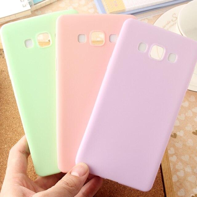 מקרה צבע ממתקים דק במיוחד לסמסונג גלקסי קצה S6 S7 S8 S9 בתוספת J1 J3 J5 J7 A3 A5 A7 2016 2017 הסיליקון TPU רך טלפון מקרי