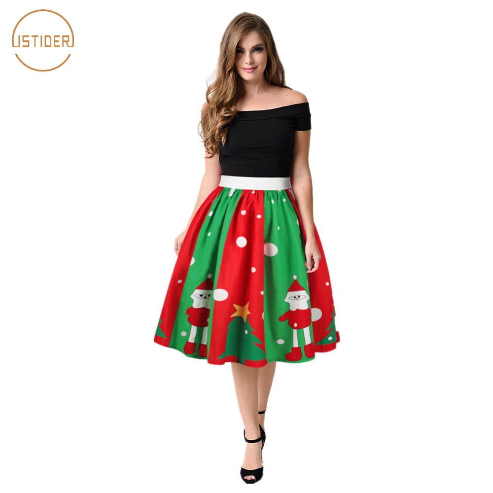Green Christmas Skirt Women Promotion-Shop for Promotional Green ...