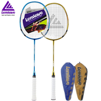 Lenwave Brand Fast Delivery 1 Piece High Grade Professional Gold Plating Carbon Badminton Racket