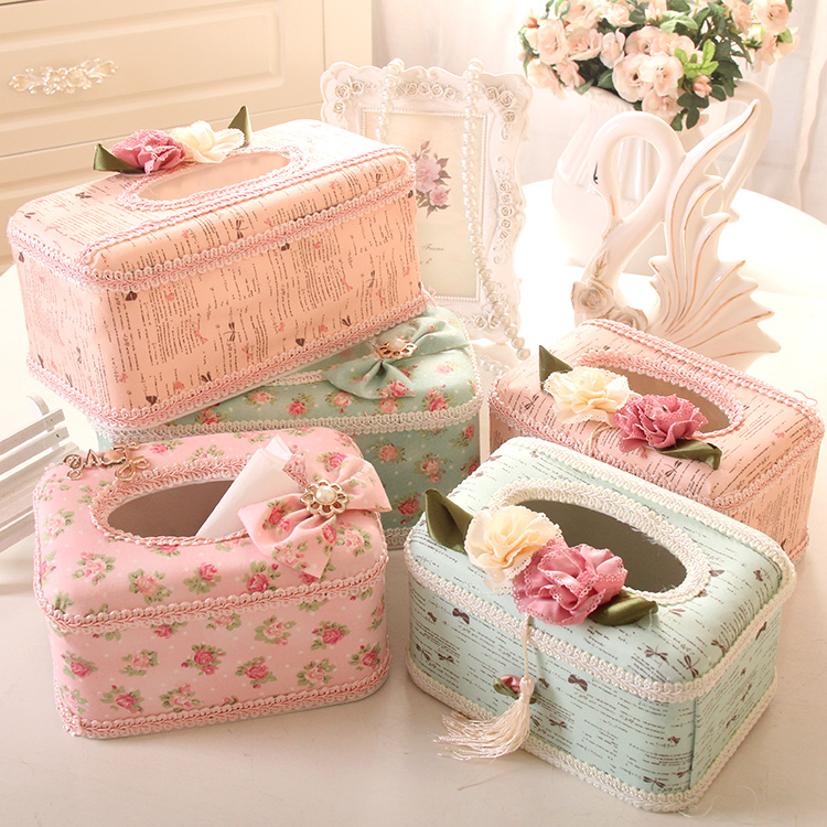 High quality cloth simple european rustic box tissue pumping the desktop