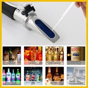 RZ الإنكسار الكحول مقياس الكحول متر 0 ~ 80% V/V ATC يده أداة مقياس الماء RZ116 تركيز الأرواح اختبار النبيذ