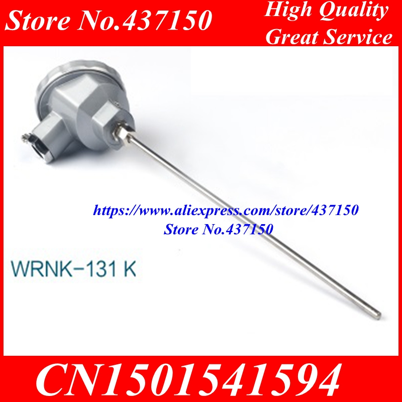 Armoured K type thermocouple temperature sensor WRNK 131 with metal probe diameter 4 length 500MM