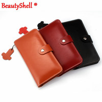 BeautyShell 100 Genuine Leather Phone Bag Universal 3 5 5 5 For Samsung S4 S5 S6