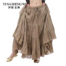 Длинная Цыганская юбка для танца живота, для выступлений, для женщин, Цыганская юбка для танца живота, юбки с этническим рисунком для взрослых, 12 цветов
