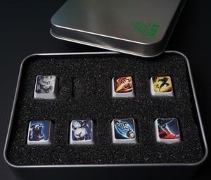 Image 4 - Tampas de chave de teclado mecânico, 7 teclas/conjunto, altura, oem, teclas de habilidade para lol
