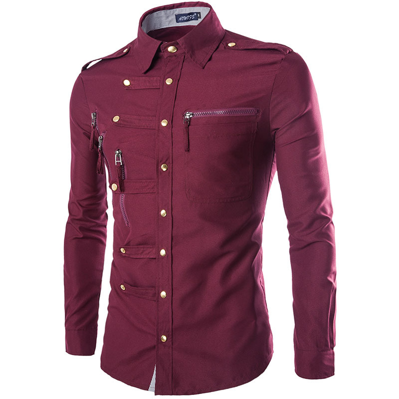 2018 New Men s Brand font b Shirt b font Fashion Casual Cotton Men s font