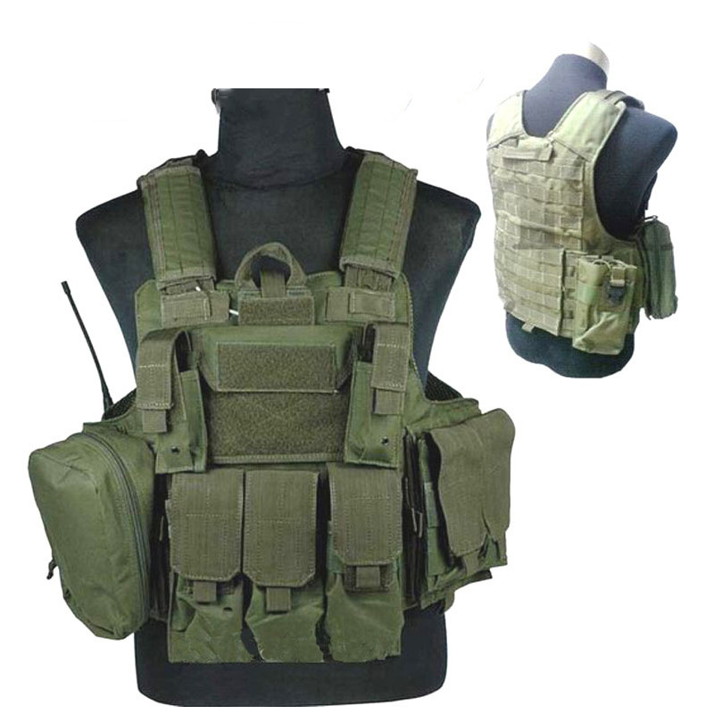 Military Vest steel wire tactical vest With 3 Pouches New Molle Combat Strike Plate Carrier 9.11 outdoor live cs Airsoft  Vest asus ms g31mel support ddr2 775 pin integrated small plate g31 motherboard