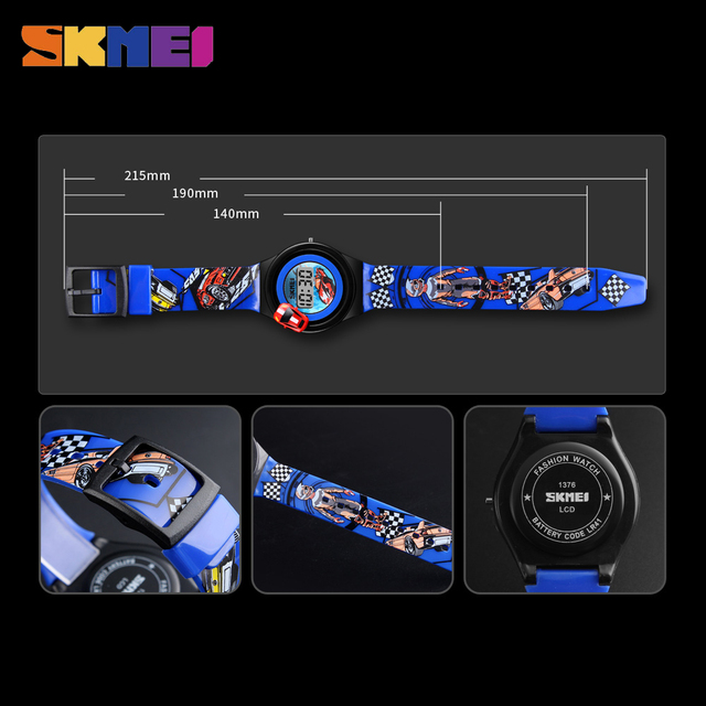 New 2018 SKMEI Cartoon Car Children's Watch Fashion Digital Electronic Children Watch Creative Cartoon Student Watch Boy Child