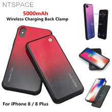 NTSPACE 5000mAh Magnetic Battery Charger Case For iPhone 8 Plus Portable Power Bank