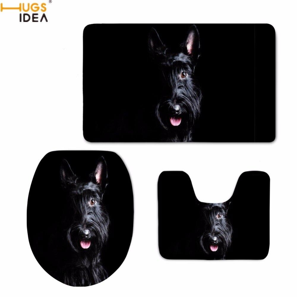 HUGSIDEA Funny 3D Animal Scottish Terrier Dog Printing