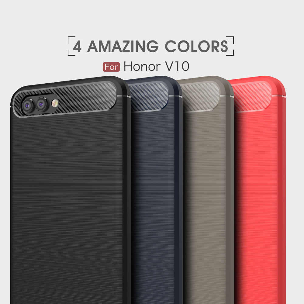 1 шт. pmobile телефонные чехлы для huawei honor V10 углеродного волокна прочный защитный чехол для задней крышки для huawei honor V10 Бесплатная доставка
