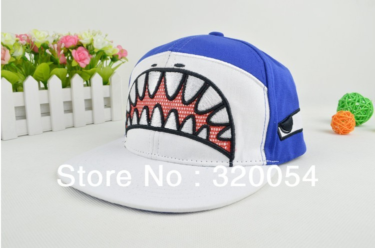 cartoon shark mouth baseball cap south version hip hop dance hat men fin paul and
