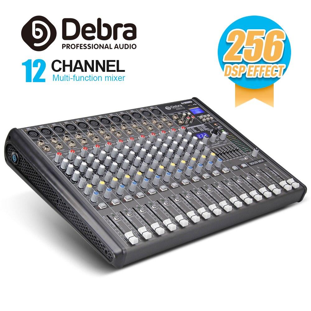 Professionelle Audiogeräte Professionelle Debra Audio Pro 12 Kanal Mit 256 Dsp Sound Effekte Bluetooth Studio Mixer Audio-dj Sound-controller Interf Entlastung Von Hitze Und Sonnenstich