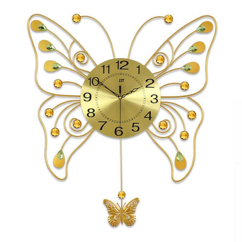 Big Butterfly Art Wall Watch Modern Design Brief Large Decorative ...