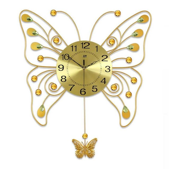 Big Butterfly Art Wall Watch Modern Design Brief Large Decorative ...