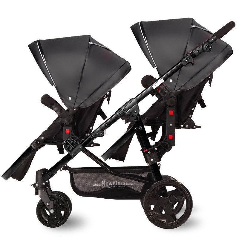 Luxury Portable Newborn Baby Stroller Foldable Twin stroller BB bidirectional double stroller Aviation aluminum alloy material fashion baby stroller high view portable bidirectional foldable aluminum alloy shock absorption baby pram pushchair buggys