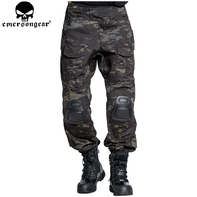 EMERSONGEAR G3 Pants hunting Airsoft Tactical Military Camouflage Trousers Tactical Pants MultiCam Black EM7043 emersongear lbt2649b hydration carrier for 1961ar molle backpack military tactical bags hunting bag multicam tropic arid black