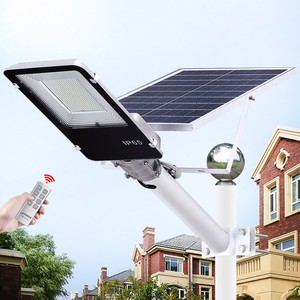 1 шт. 20 Вт 40 Вт 70 Вт 100 Вт 200 Вт Светодиодный уличный фонарь на солнечной батарее уличная Водонепроницаемая IP65 Светодиодная уличная лампа умны...