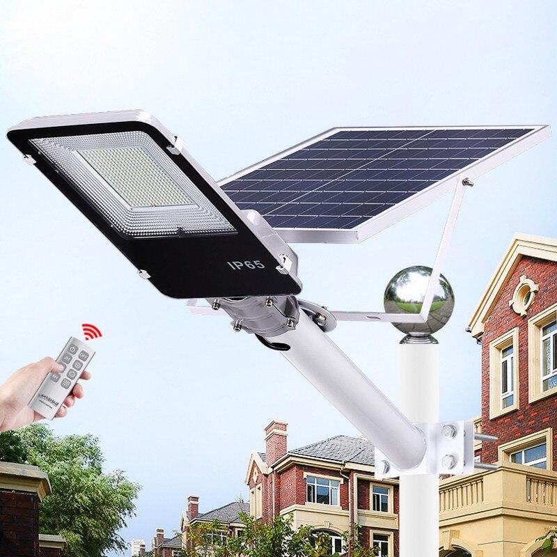 1pc 20W 40W 70W 100W 200W LED Solar Straße Licht Im Freien Wasserdichte IP65 Led straße Lampe Intelligente licht Für Garten Hof Straße Lampe
