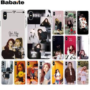 Babaite BLACKPINK ROSE Kpop DIY Painted Beautiful Phone Accessories Case for iPhone 8 7 6 6S Plus X XS MAX 5 5S SE XR Cellphones