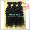 "Curly, 3pcs/lot 14""-28"", Free shipping, 100% Brasileira Virgem Cabelo Humano Hair Extension Mix Length, 1b(95-100g/pc) hair ring"