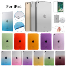 For iPad 6th 9.7 2018 A1893 A1954 Clear Case Ultra Thin Transparent Soft Silicon TPU Cover Tablet Case For iPad 9.7 2017 A1822