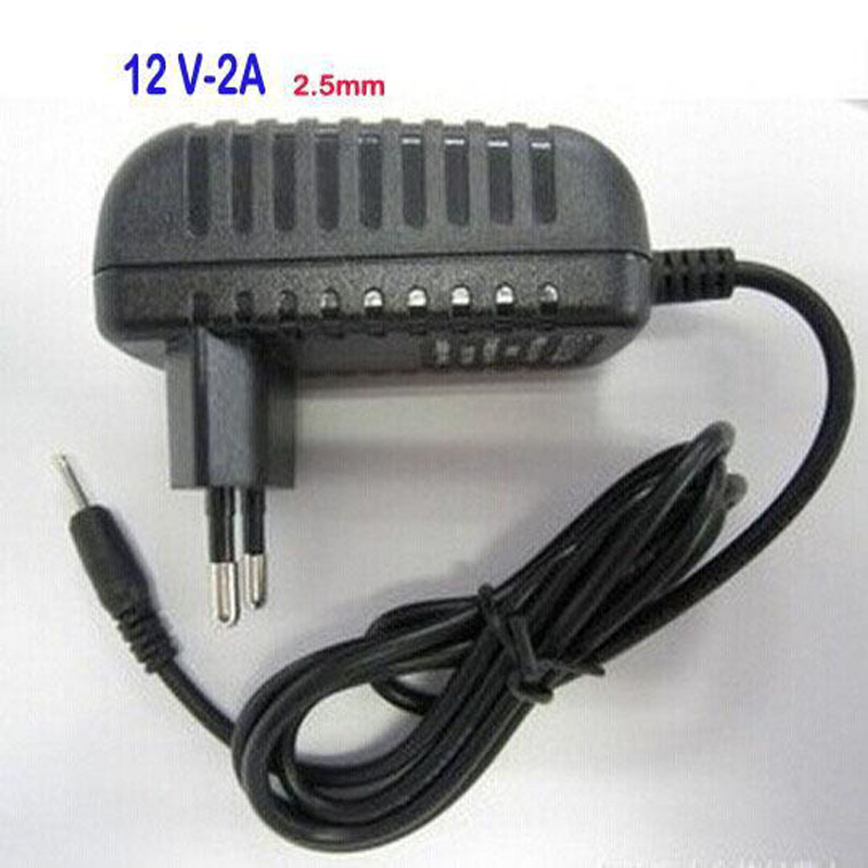 12v 2A 2.5mm Power Supply charger Adapter for Android tablet PC Yuandao N90 N101 II Cube U9GT2 U9GT5 U30GT2 Ainol Hero tablet pc жк модуль 9 7 u9gt2 yuandao n90 mt97002 v2