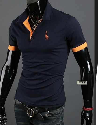 2018 Mens Polo Shirt Brands 2018 Male Short Sleeve Fashion Casual Slim Deer Embroidery Printing Polos Men Jerseys