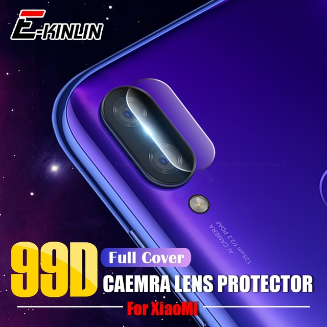 Lưng Bảo Vệ Ống Kính Camera Bảo Vệ Cho Tiểu Mi Mi 9 SE 8 A1 A2 Lite Max 3 Mi x 2 S Đỏ MI Note 5 7 6A 6 Pro Kính Cường Lực